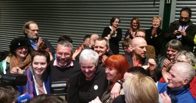 """United, we'll never be defeated"" - Bríd Smith finally triumphs in Dublin South Central"