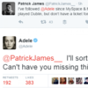 Adele just sorted out an Irish fan with a ticket to her Dublin show