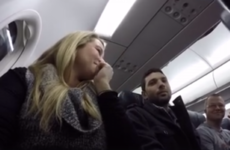 This man found out he's going to be a dad over a plane loudspeaker