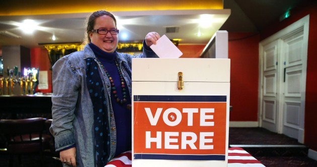 People are voting in the US Democratic primaries this evening... in Dublin