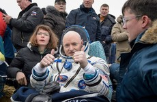 Take a break and watch two astronauts return to Earth after a year in space