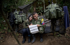 The rebels sleeping with weapons and falling in love in Colombia's jungle