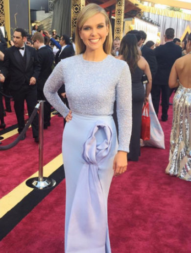 This TV presenter's Oscars dress went viral for looking like a vagina