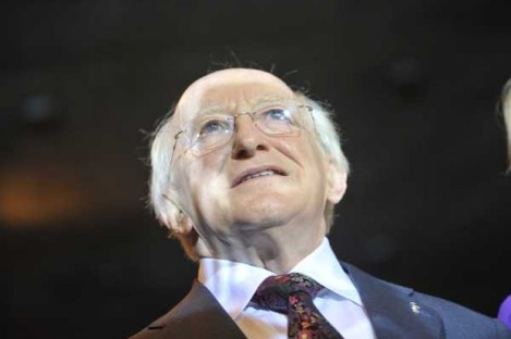 Michael D Higgins - the emigrants' choice.