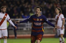 Lionel Messi scores a hat-trick as Barcelona smash another Spanish record