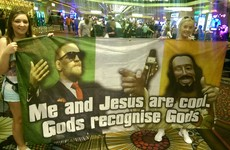 This has got to be a strong contender for Conor McGregor flag of the week