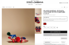 Dolce & Gabbana are in bother for naming a shoe the 'slave sandal'