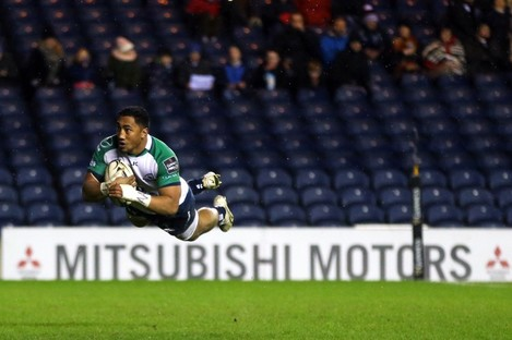 Bundee Aki was amongst the try scorers for Connacht tonight.