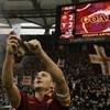 Francesco Totti received a standing ovation when he came ON as a substitute tonight