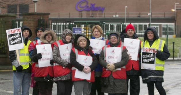 "Cadbury workers suspend strike after agreement to take outsourcing ""off the table"""