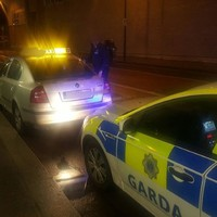 A fake taxi carrying a young woman was stopped by gardaí in Dublin last night