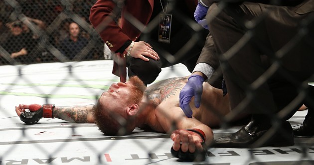 Conor McGregor beaten for the first time in the UFC as Diaz scores massive shock