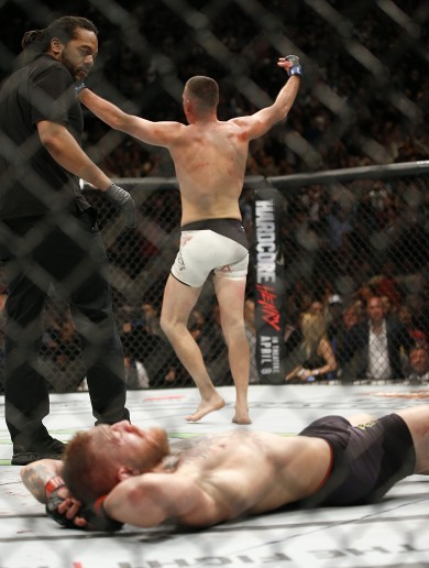 In pics: Nate Diaz chokes the last breath from Conor McGregor's reign of dominance