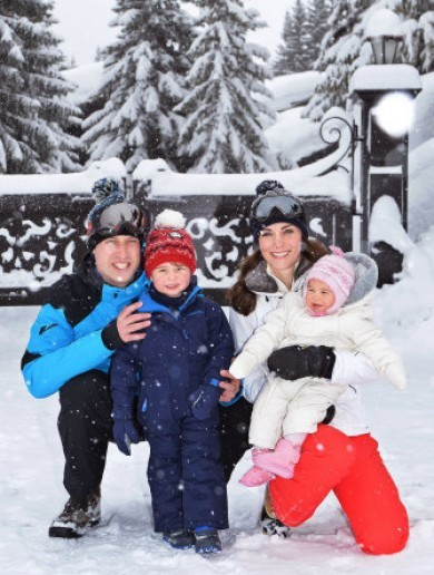 Prince George and Princess Charlotte went skiing and LOOK at the pictures ... It's The Dredge