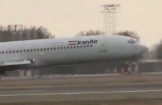 Watch: Iranian Boeing 727 lands without front wheels