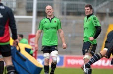 Back to business: Irish rugby stars set to return for Munster