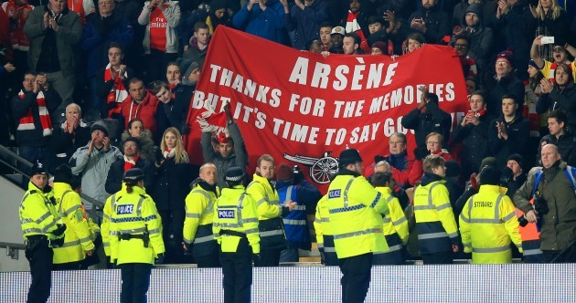 'I have nothing to be scared of, I don't care' - Wenger responds to that fan banner