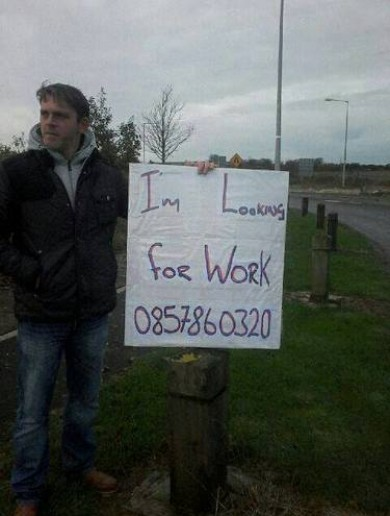 "Remember the guy who took to standing by the road to look for work? Now he's ""living the dream"""