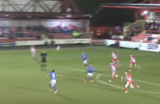 Once-capped Ireland international Michael Doyle with an unreal 30-yard volley for Pompey