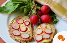 Raw radishes with a bit of butter and some seasoning - now that's fast food!