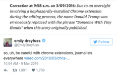 This magazine just printed the best Donald Trump correction ever