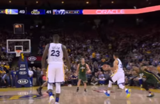 Steph Curry served up TWO ridiculous moments last night