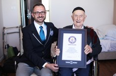 A Holocaust survivor has been named the world's oldest man