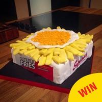 An Irish baker made this amazing Supermac's garlic cheese fries cake