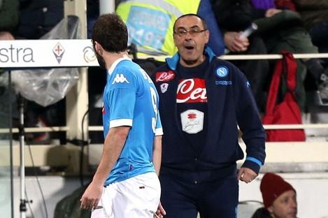 Napoli coach Maurizio Sarri
