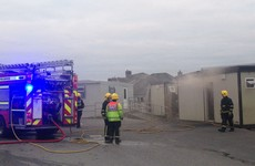 Fire destroys building at Galway primary school