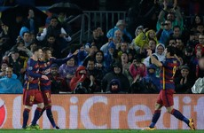 This glorious Luis Suarez scissors kick sealed Barca's place in the last 8 tonight