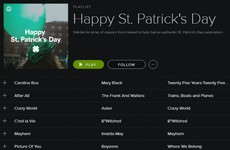 Spotify has made a special St Patrick's Day playlist full of Irish bangers
