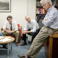 Spotlight producers say dialogue attributed to one character was 'fictionalised'