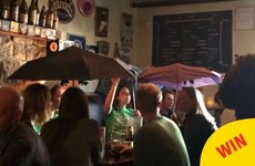 A keg just exploded upstairs in this Galway pub and it rained beer