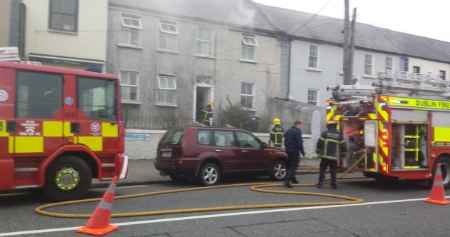 Firefighters tackle blaze at house in Dublin village
