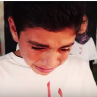 The wish of a 12-year-old boy: 'I want to see the last bullet fired even if it's into my body'