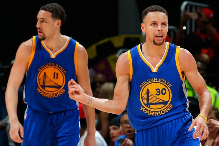Golden State Warriors pair Stephen Curry and Klay Thompson.