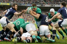 CJ Stander channelled his inner NFL player to get over the Scottish line