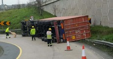 Overturned truck causing traffic chaos on the M50
