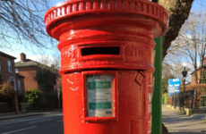 Post boxes around Dublin are being painted red for the 1916 centenary