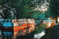 This boat on Dublin's Grand Canal is selling booze on Good Friday