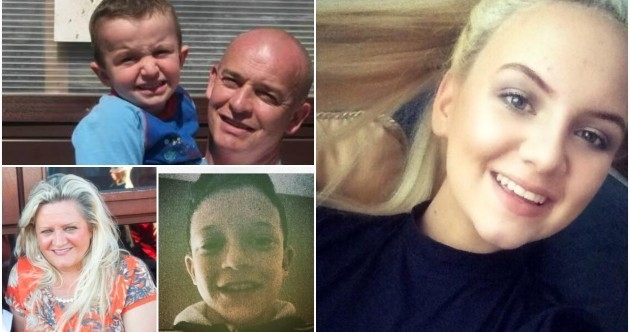 'The most palpable grief': Desolation as five victims from one family named