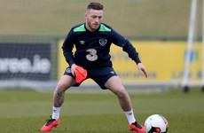 Man City's Jack Byrne trained with the Ireland senior team for the first time today