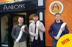 Two lads just beat this Tipp takeaway's insane four foot wrap challenge