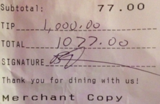 Amy Schumer left a whopper $1000 tip for a bartender in New York