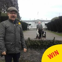 Michael D pulled off the greatest photobomb ever in the Phoenix Park