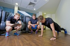 Jordi Murphy dropped by this week to check our progress in his gym programme