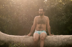 This body positive underwear ad features regular men in all their glory