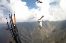WATCH: Paraglider vs. eagle