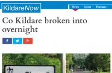 This headline about a Kildare break-in features the best typo of all time